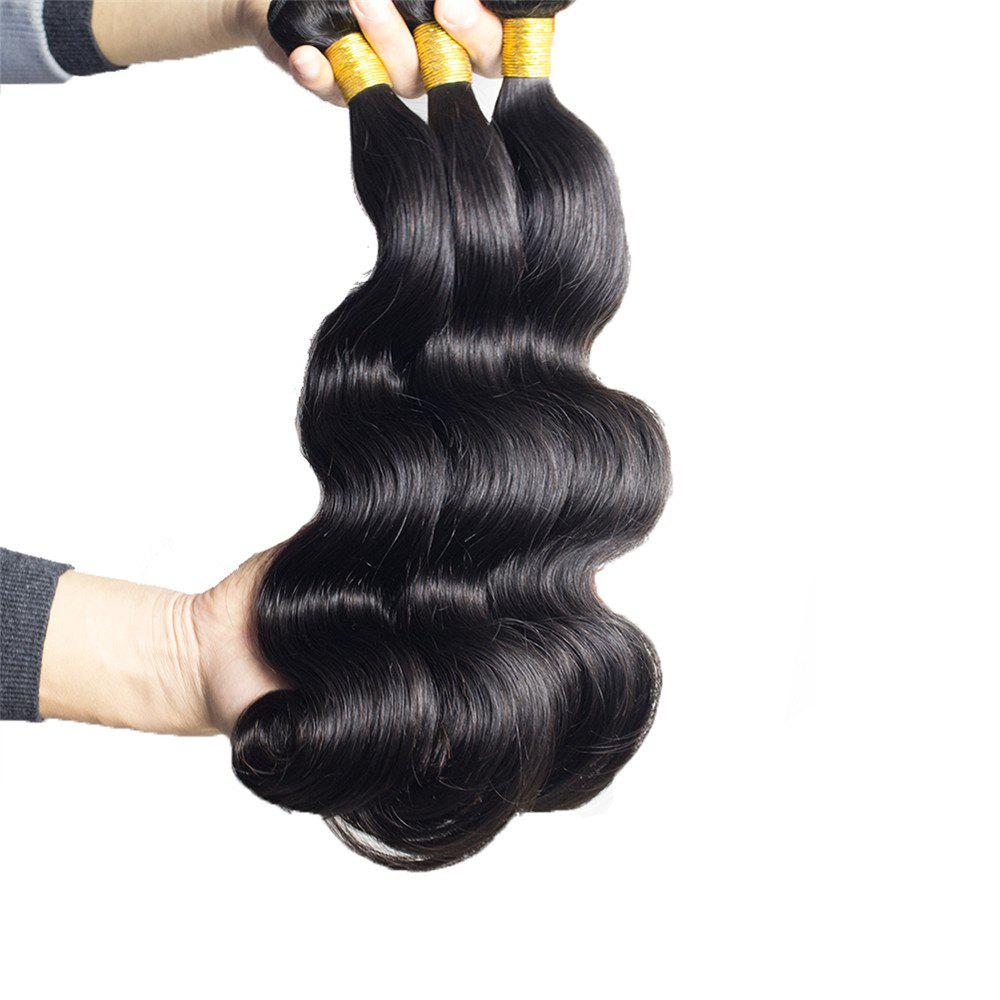 1 Pcs 7A Virgin Body Wave Brazilian Hair Weave - BLACK 16INCH