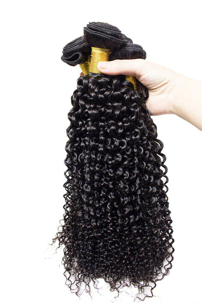 1 Pcs 7A Virgin Kinky Curly Brazilian Hair Weave - Noir 14INCH