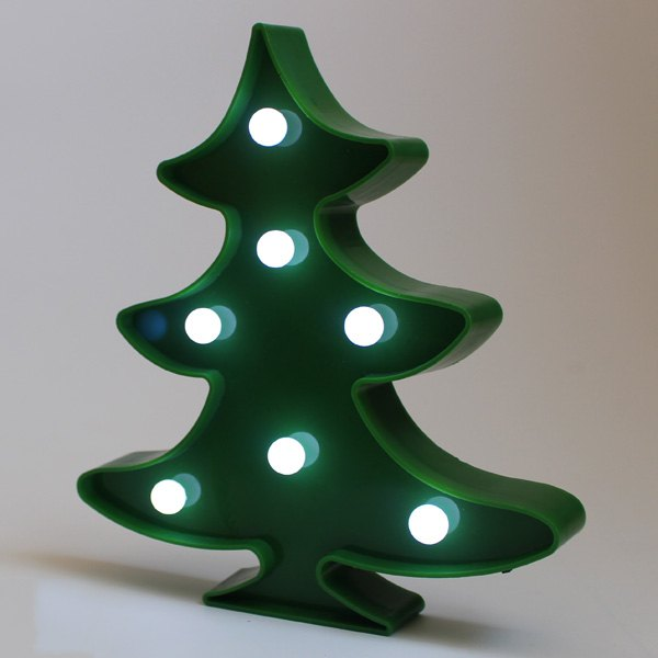 Christmas Tree Shape LED Night Light Wall Home Decor solar powered 0 64w 10lm 200 led blue light garden christmas party string fairy light blue 20 5m