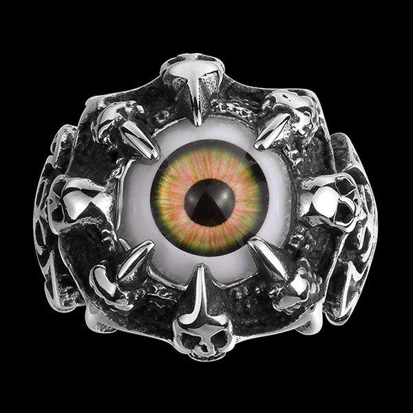 Eye Skull Claw Alloy RingJewelry<br><br><br>Size: 9<br>Color: SILVER