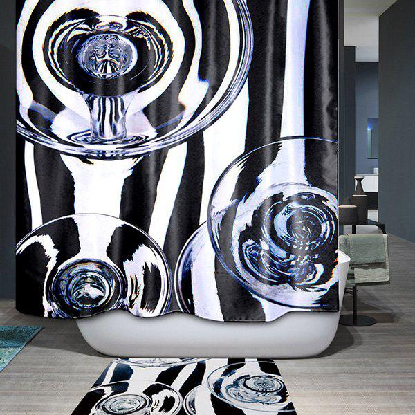 Thicken Waterproof Polyester Bathroom Shower Curtain thicken bathroom overlooking earth pattern waterproof shower curtain