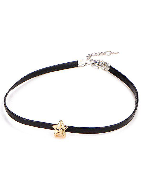 Engraved Love Star Choker Necklace