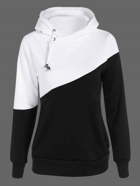 dfeaa549f82cf 17% OFF  2019 Two Tone Plus Size Jumper Hoodie In BLACK 5XL ...