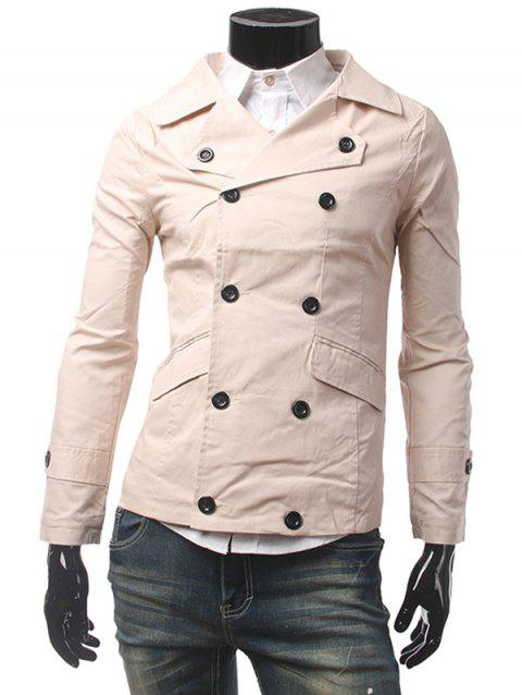 Bouton Pocket Tab Cuff double breasted Jacket - Kaki L