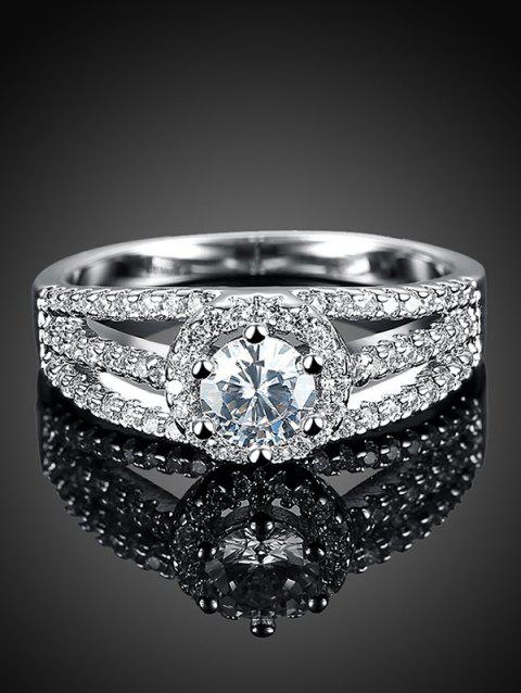 Layered S925 Diamond Ring - Argent 6