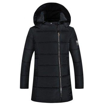 Side Zip Up 79 Patch Padded Hooded Coat