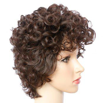 Shaggy Curly Brown Synthetic Trendy Curly Women's Capless Wig - BROWN