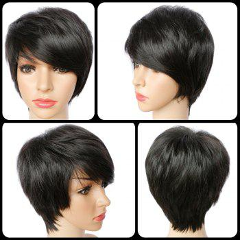 Spiffy Short Pixie Cut Straight Synthetic Side Bang Capless Wig
