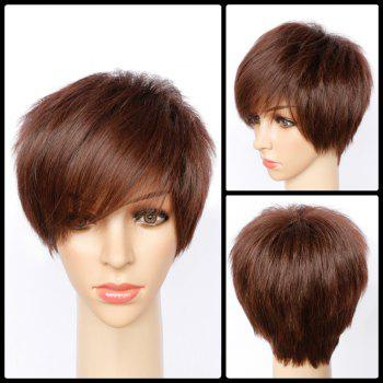 Short Side Bang Fluffy Straight Synthetic Wig
