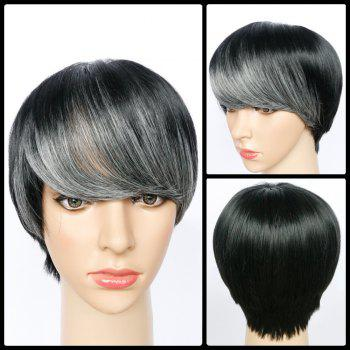 Spiffy Full Bang Short Straight Synthetic Wig