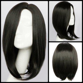 Medium Straight Side Parting Synthetic Wig