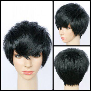 Ultrashort Spiffy Side Bang Straight Synthetic Wig