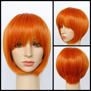 Side Parting Short Straight Synthetic Capless Bob Wig