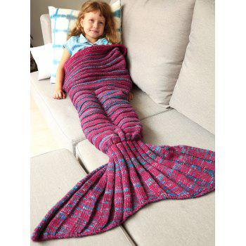 Good Quality Warm Kintted Wrap Mermaid Tail Blanket For Kids - M M