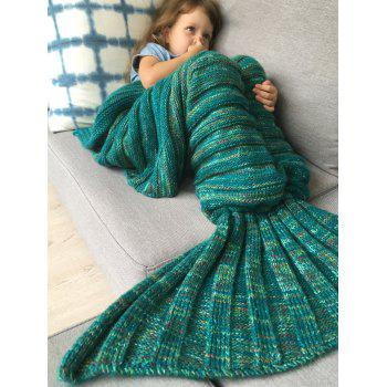 Good Quality Warm Kintted Wrap Mermaid Tail Blanket For Kids