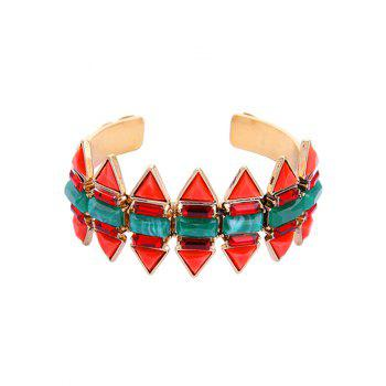 Arrow Shape Retro Fake Emerald Bracelet