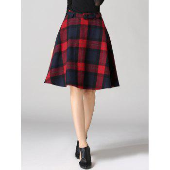 High Waisted Scottish A Line Skirt