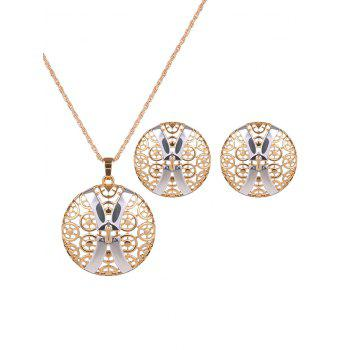 Round Hollow Out X Shape Jewelry Set