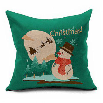 Home Decorative Christmas Snow Man Throw Pillowcase