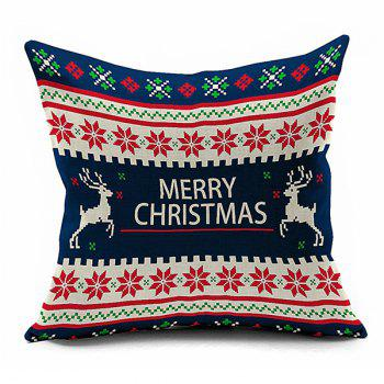 Home Decorative Christmas Elks Throw Pillowcase