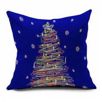 Home Decorative Christmas Star Tree Throw Pillowcase