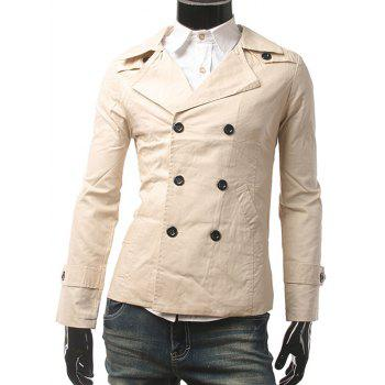Slim Fit Lapel Collar Double Breasted Jacket