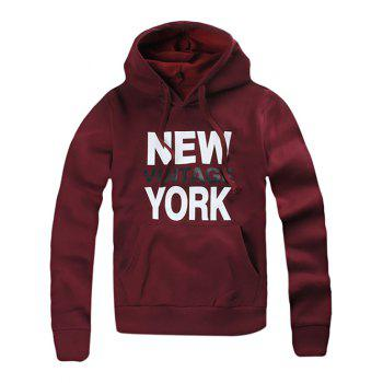 Kangaroo Pocket New York Printing Hoodie
