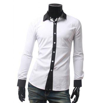 Contrast Color Long Sleeve Shirt