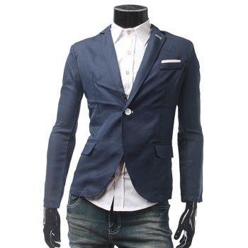 Single Breasted Pocket Button Hole Casual Blazer