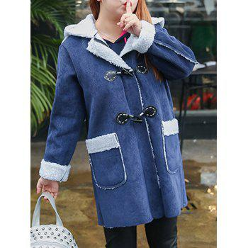 Plus Size Shearling Ears Hooded Coat