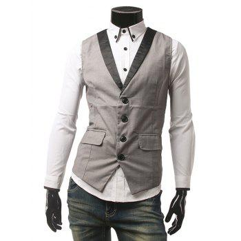 Flap Pocket Single Breasted Buckled Waistcoat