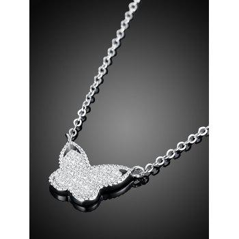 Butterfly S925 Diamond Pendant Necklace