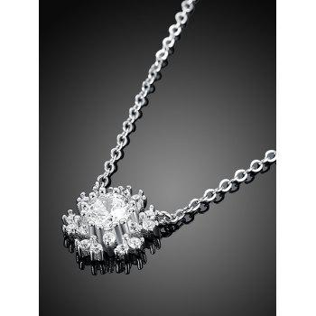 Snowflake S925 Diamond Pendant Necklace