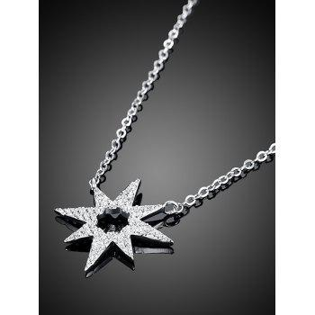 Star Flower S925 Diamond Pendant Necklace