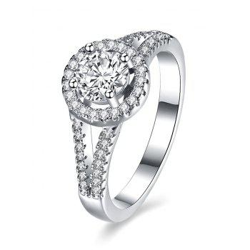 S925 Diamond Circle Ring