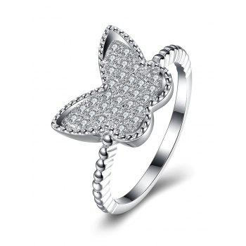 S925 Diamond Butterfly Ring