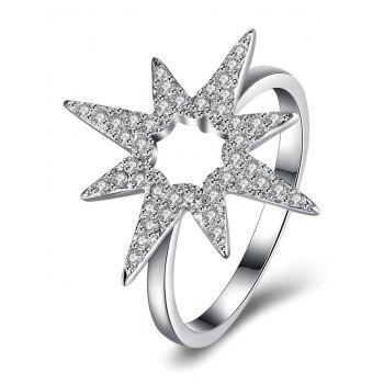 S925 Diamond Flower Star Ring
