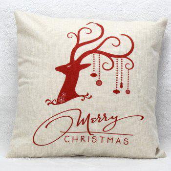 Christmas Elk Pattern Cushion Throw Pillow Cover