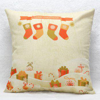 Christmas Present Sock Cushion Pillow Cover Home Decoration