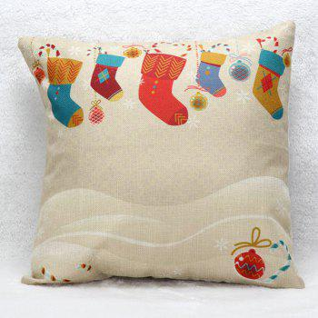 Christmas Sock Cushion Pillow Cover Home Decoration