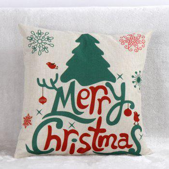 Xmas Tree Cushion Pillow Cover Christmas Home Decoration