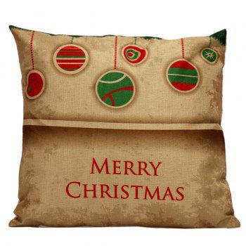 Christmas Hangers Cushion Linen Throw Pillow Cover