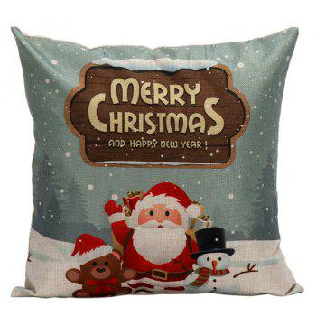 Christmas Santa Cushion Linen Throw Pillow Cover