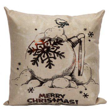 Christmas Sofa Cushion Home Office Linen Pillow Cover