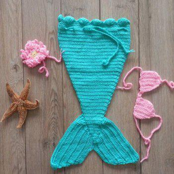 Baby Crochet Mermaid Photography Prop Costume Set