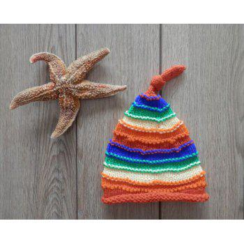 Newborn Crochet Photography Stripe Skullies Beanie Hat