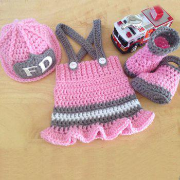 Handmade Crochet Photography Prop Clothes Set For Baby