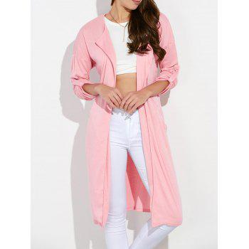 Streetwear Pockets Ruched Duster Cardigan