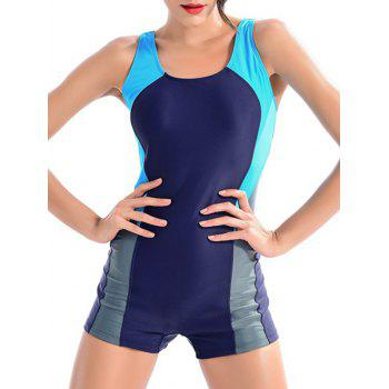 Color Block One-Piece Swimwear