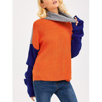 Drop Shoulder Side Slit Chunky Sweater